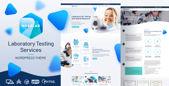 NovaLab - Medical Research WordPress Theme TFx ThemeFre