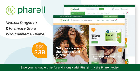 Pharell - Medical amp Pharmacy Store TFx ThemeFre