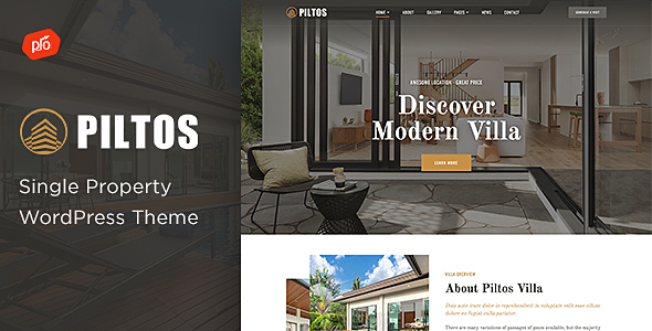 Piltos - Single Property WordPress Theme TFx ThemeFre