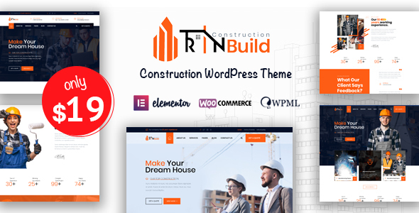 Rin Build - Construction Company WordPress Theme TFx ThemeFre