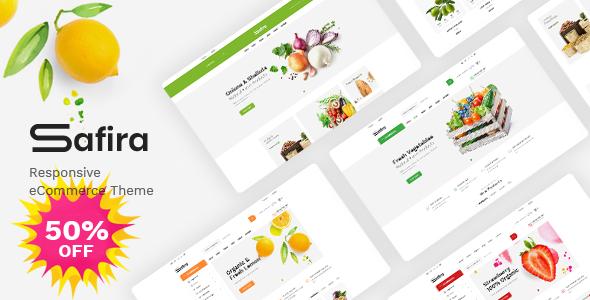 Safira - Food amp Organic WooCommerce WordPress Theme TFx ThemeFre