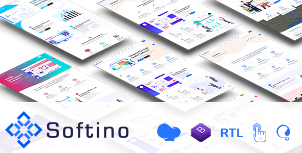 Softino - Multipurpose Software Landing Page WordPress Theme TFx ThemeFre