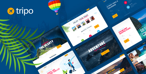 Tripo - Travel amp Tourism Agencies WordPress Theme TFx ThemeFre