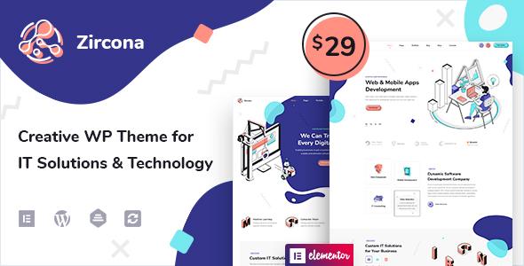 Zircona - IT Solutions amp Technology WordPress Theme TFx ThemeFre
