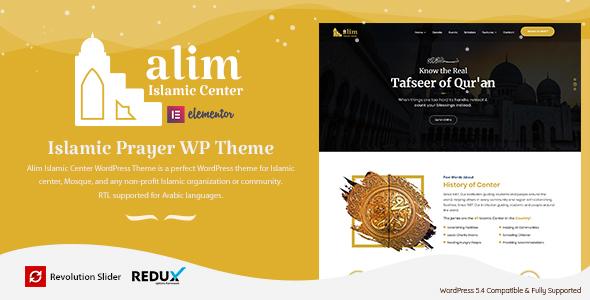 Alim - Islamic Center WordPress Theme TFx ThemeFre