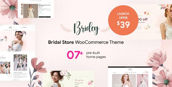 Bridey - Bridal Store WooCommerce WordPress Theme TFx ThemeFre