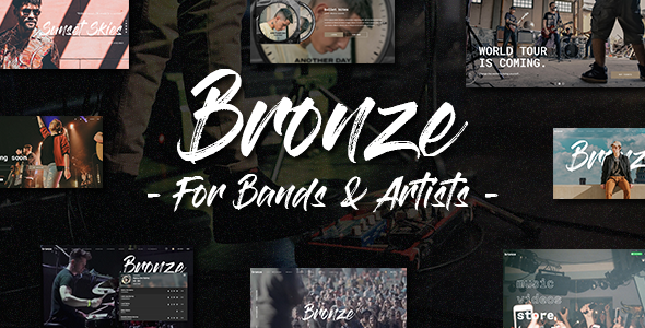Bronze - A Professional Music WordPress Theme TFx ThemeFre