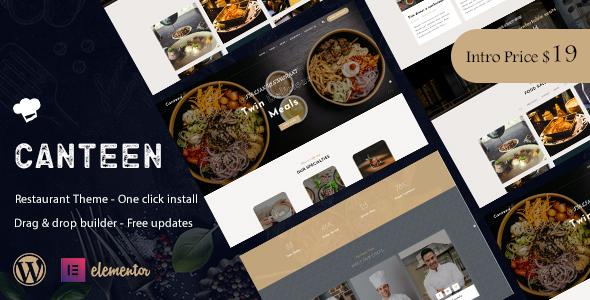 Canteen - Restaurant WordPress Theme TFx ThemeFre