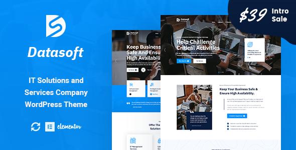 Datasoft - IT Solutions amp Services WordPress Theme TFx ThemeFre
