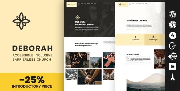 Deborah - Inclusive Church WordPress Theme TFx ThemeFre