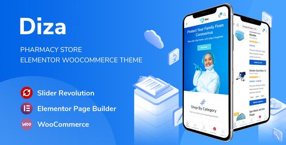 Diza - Pharmacy Store Elementor WooCommerce Theme TFx ThemeFre