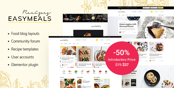 EasyMeals - Food Blog WordPress Theme TFx ThemeFre