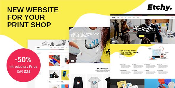 Etchy - Print Shop WordPress Theme TFx WordPress ThemeFre