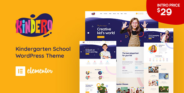 Kindero - Kindergarten School WordPress Theme TFx ThemeFre