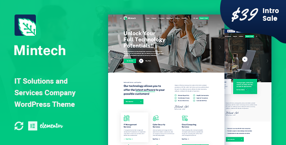 Mintech - IT Solutions amp Services WordPress Theme TFx ThemeFre