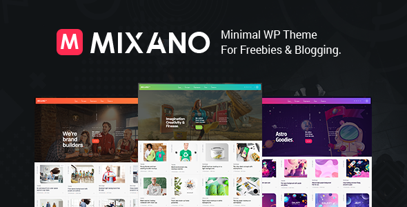 Mixano - Minimal WordPress Theme TFx WordPress ThemeFre