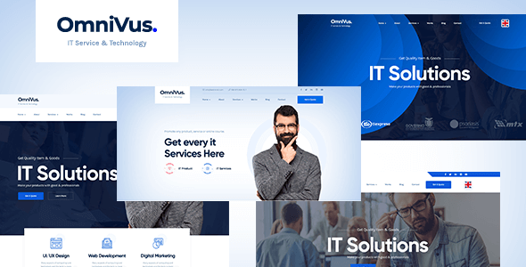 Omnivus - IT Solutions amp Services WordPress Theme TFx ThemeFre