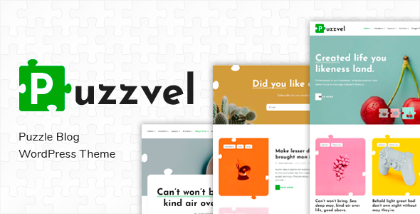 Puzzvel  Puzzle Blog WordPress Theme TFx ThemeFre