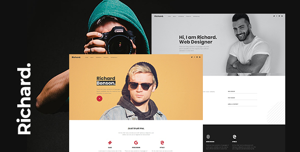 Richard - Onepage Personal WordPress Theme TFx ThemeFre