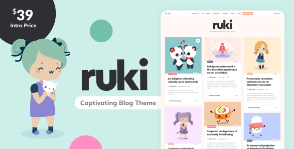 Ruki - A Captivating Personal Blog Theme TFx ThemeFre