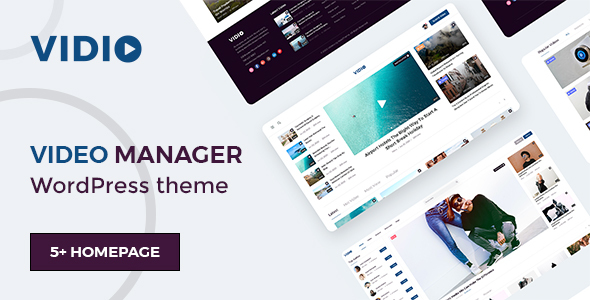 Vidio - Video Manager WordPress theme TFx ThemeFre