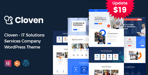 Cloven - IT Solutions Services Company WordPress Theme TFx ThemeFre