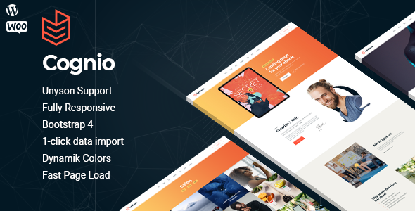 Cognio - Book Promo WordPress theme TFx ThemeFre