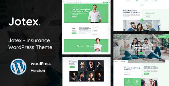 Jotex - Insurance WordPress Theme TFx WordPress ThemeFre
