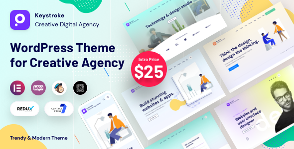 Keystroke - Creative Agency Digital Agency WordPress Theme TFx ThemeFre