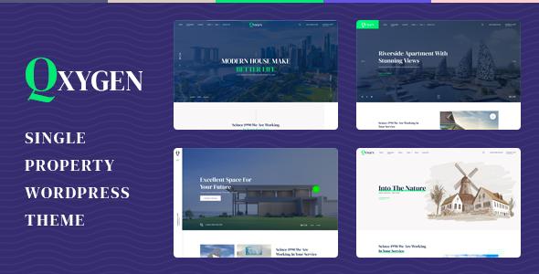 Qxygen - Single Property WordPress Theme TFx ThemeFre