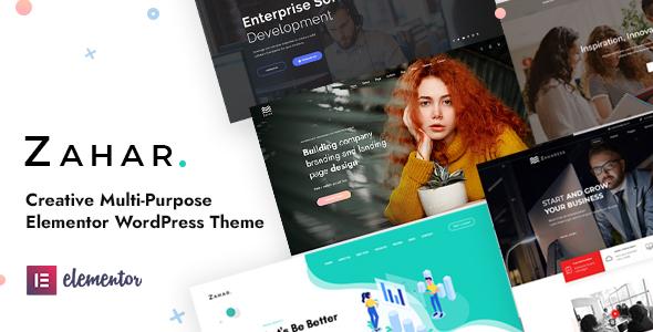 Zahar - Creative Multipurpose Elementor WordPress Theme TFx ThemeFre