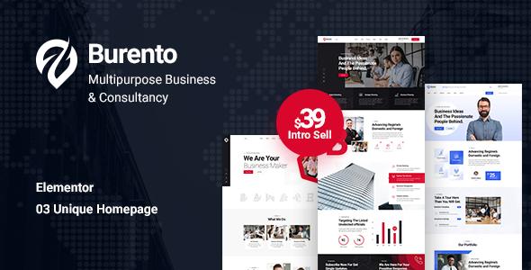 Burento - Multipurpose Business WordPress Theme TFx ThemeFre