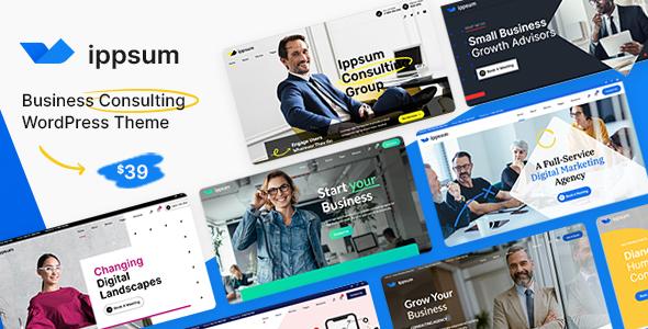 Ippsum - Business Consulting TFx WordPress ThemeFre