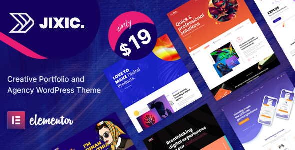 Jixic - Creative Portfolio amp Agency WordPress Theme TFx ThemeFre
