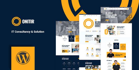 Onitir - IT Solutions WordPress theme TFx ThemeFre