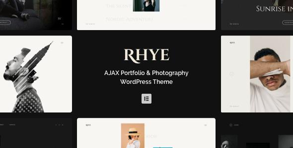 Rhye  AJAX Portfolio WordPress Theme TFx ThemeFre