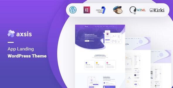 axsis - App Landing WordPress Theme TFx ThemeFre
