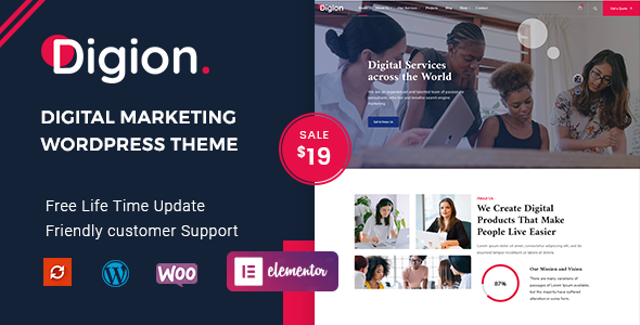Digion - Online Digital Marketing WordPress Theme TFx ThemeFre