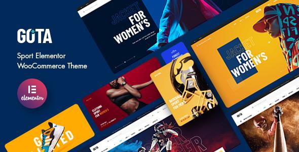 Gota - Sport Elementor WooCommerce Theme TFx ThemeFre