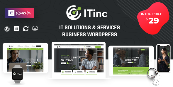 ITInc - Technology Services WordPress Theme TFx ThemeFre