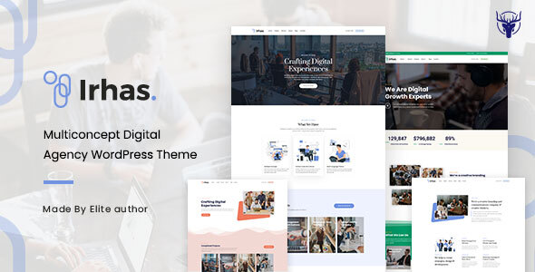 Irhas  Digital Agency WordPress Theme TFx ThemeFre