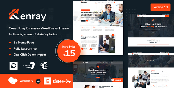 Kenray  Consulting Business WordPress Theme TFx ThemeFre