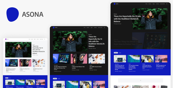 Asona - Creative Minimal Blog and Magazine WordPress Theme TFx ThemeFre