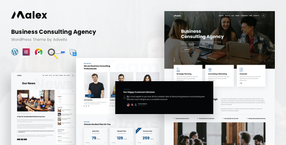 Malex - Business Consulting Agency WordPress Theme TFx ThemeFre