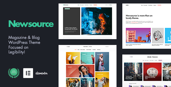 Newsource - Multi-Concept Blog Magazine TFx ThemeFre
