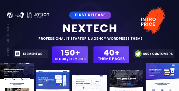 Nextech - IT Startup WordPress theme TFx ThemeFre