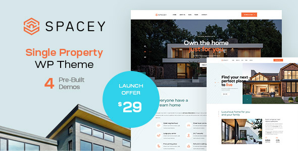 Spacey - Single Property WordPress Theme TFx ThemeFre