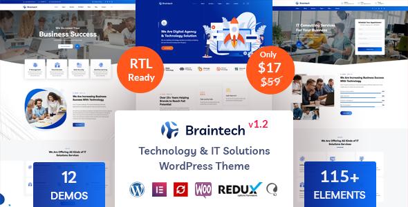 Braintech - Technology amp IT Solutions WordPress Theme TFx ThemeFre