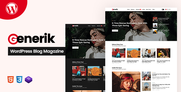 Generik - Multipurpose WordPress Blog Magazine Theme TFx ThemeFre