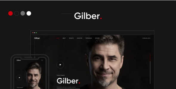 Gilber - Personal CVResume WordPress Theme TFx ThemeFre